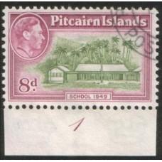 1940 PITCAIRN Is KGVI 8d First School VFU