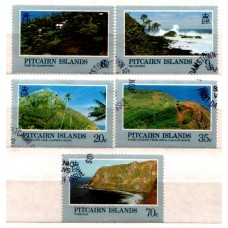 1981 PITCAIRN Is. Lanscapes set VFU
