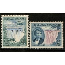 1955 RHODESIA & NYASALAND Victoria Falls Mint