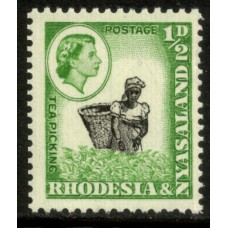 1959 RHODESIA & NYASALAND 1/2d Tea Picking coil issue MNH.