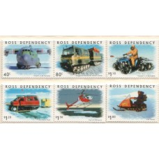2000 ROSS DEPENDENCY Transport on Ice set MNH