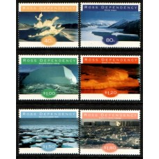 1998 ROSS DEPENDENCY Ice Formations set MNH