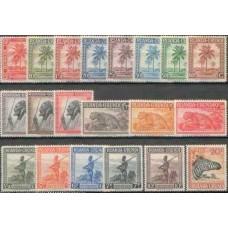 1942 RUANDA URUNDI Def. set to 20Fr  (20v)  MNH