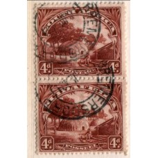1931 SWAZILAND 4d Hut (Administrated by South Africa SG35bc) brown cv£700.00 VFU.