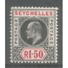1906 SEYCHELLES KE 1R50 multi Crown CA MNH.