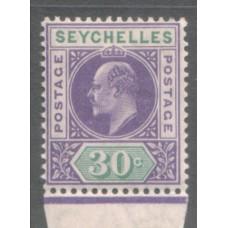 1906 SEYCHELLES KE 30c MNH