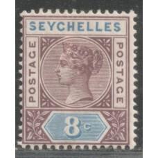 1890 SEYCHELLES QV 8c Die1 MM.