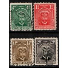 1924 SOUTHERN RHODESIA KGV 1/2d to 2d Admirals VFU