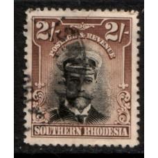 1924 SOUTHERN RHODESIA KGV 2 Shilling cv£19.00 VFU