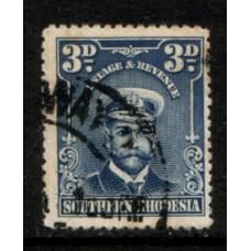 1924 SOUTHERN RHODESIA KGV 3d Admiral VFU