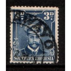 1924 SOUTHERN RHODESIA KGV 3d Admiral #2 VFU