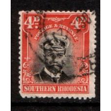 1924 SOUTHERN RHODESIA KGV 4d Admiral FU