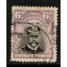 1924 SOUTHERN RHODESIA KGV 6d Admiral VFU
