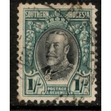 1931 SOUTHERN RHODESIA KGV 1sh #2 VFU