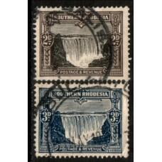 1931 SOUTHERN RHODESIA 2d & 3d Falls cv£12.40 VFU