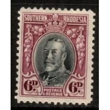 1931 SOUTHERN RHODESIA KGV 6d #2 LMM
