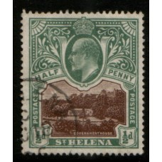 1903 St. HELENA KE 1/2d brown & green VFU