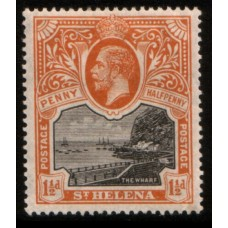 1912 St. HELENA KGV 1-1/2d black & orange LMM