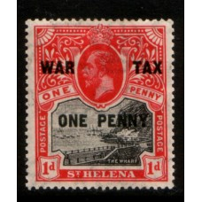 1916 St. HELENA KGV 1d War Tax LMM
