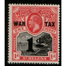 1919 St. HELENA KGV 1d black & red LMM.