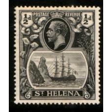 1922 St. HELENA KGV 1/2d gry & black LMM.