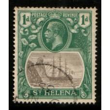 1922 St. HELENA KGV 1d grey & green VFU