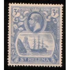 1922 St. HELENA KGV 3d blue LMM