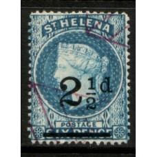 1861 St. HELENA QV 2-1/2d blue FU