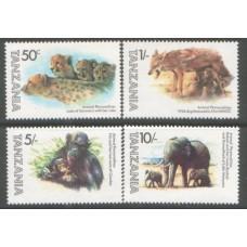 1982 TANZANIA Animals MNH