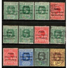 1916 TOGO KGV 12 values LMM & VFU