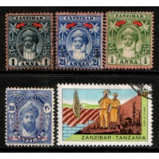 ZANZIBAR:  Group of 5 values LMM VFU