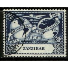 1949 ZANZIBAR 30c UPU VFU