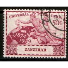 1949 ZANZIBAR 50c UPU VFU